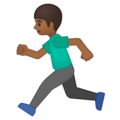 Person Running: Medium-Dark Skin Tone on Google Android 9.0