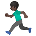 Person Running: Dark Skin Tone on Google Android 9.0