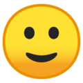 Slightly Smiling Face on Google Android 9.0