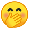 Face With Hand Over Mouth on Google Android 9.0