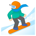 Snowboarder: Light Skin Tone on Google Android 9.0
