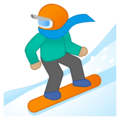 Snowboarder: Medium-Light Skin Tone on Google Android 9.0