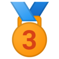 3rd Place Medal on Google Android 9.0