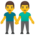 Men Holding Hands on Google Android 9.0