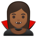 Vampire: Medium-Dark Skin Tone on Google Android 9.0