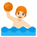 Person Playing Water Polo: Light Skin Tone on Google Android 9.0