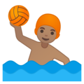 Person Playing Water Polo: Medium Skin Tone on Google Android 9.0