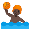 Person Playing Water Polo: Dark Skin Tone on Google Android 9.0