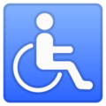 Wheelchair Symbol on Google Android 9.0