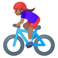 Woman Biking: Medium Skin Tone on Google Android 9.0