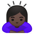 Woman Bowing: Dark Skin Tone on Google Android 9.0