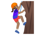 Woman Climbing: Medium Skin Tone on Google Android 9.0