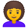 Woman, Curly Haired on Google Android 9.0