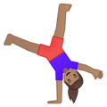 Woman Cartwheeling: Medium Skin Tone on Google Android 9.0