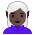 Woman Elf: Dark Skin Tone on Google Android 9.0