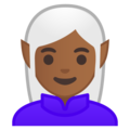 Woman Elf: Medium-Dark Skin Tone on Google Android 9.0