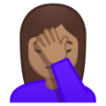 Woman Facepalming: Medium Skin Tone on Google Android 9.0