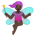 Woman Fairy: Dark Skin Tone on Google Android 9.0