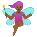 Woman Fairy: Medium-Dark Skin Tone on Google Android 9.0