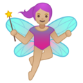 Woman Fairy: Medium-Light Skin Tone on Google Android 9.0