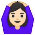 Woman Gesturing OK: Light Skin Tone on Google Android 9.0