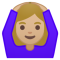 Woman Gesturing OK: Medium-Light Skin Tone on Google Android 9.0