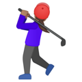 Woman Golfing: Medium Skin Tone on Google Android 9.0