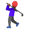 Woman Golfing: Medium-Dark Skin Tone on Google Android 9.0