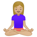 Woman in Lotus Position: Medium-Light Skin Tone on Google Android 9.0