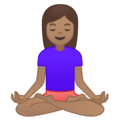 Woman in Lotus Position: Medium Skin Tone on Google Android 9.0