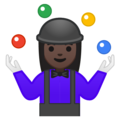 Woman Juggling: Dark Skin Tone on Google Android 9.0