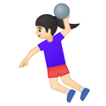 Woman Playing Handball: Light Skin Tone on Google Android 9.0