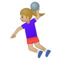 Woman Playing Handball: Medium-Light Skin Tone on Google Android 9.0