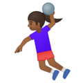 Woman Playing Handball: Medium-Dark Skin Tone on Google Android 9.0