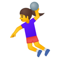 Woman Playing Handball on Google Android 9.0