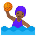 Woman Playing Water Polo: Medium-Dark Skin Tone on Google Android 9.0
