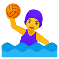 Woman Playing Water Polo on Google Android 9.0