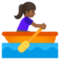 Woman Rowing Boat: Medium-Dark Skin Tone on Google Android 9.0
