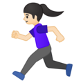 Woman Running: Light Skin Tone on Google Android 9.0