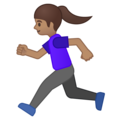 Woman Running: Medium Skin Tone on Google Android 9.0