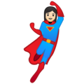 Woman Superhero: Light Skin Tone on Google Android 9.0