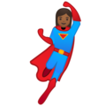 Woman Superhero: Medium-Dark Skin Tone on Google Android 9.0