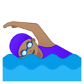 Woman Swimming: Medium Skin Tone on Google Android 9.0