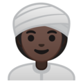 Woman Wearing Turban: Dark Skin Tone on Google Android 9.0