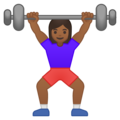 Woman Lifting Weights: Medium-Dark Skin Tone on Google Android 9.0