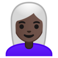 Woman: Dark Skin Tone, White Hair on Google Android 9.0