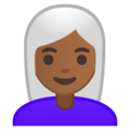 Woman: Medium-Dark Skin Tone, White Hair on Google Android 9.0