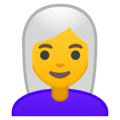 Woman: White Hair on Google Android 9.0