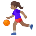 Woman Bouncing Ball: Medium Skin Tone on Google Android 9.0