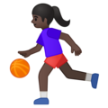Woman Bouncing Ball: Dark Skin Tone on Google Android 9.0